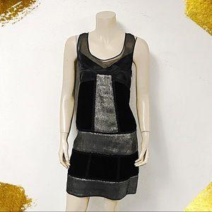 Diane von Furstenberg Juliana Black/Gunmetal Dress